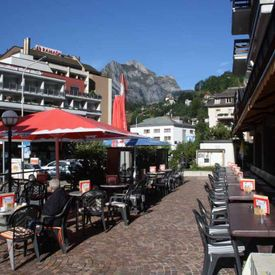 Twiny Café terrace south in Engelberg